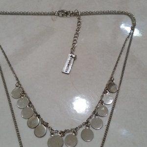 "Steve Madden SILVER Tone  Necklace Chain 14"" Women"